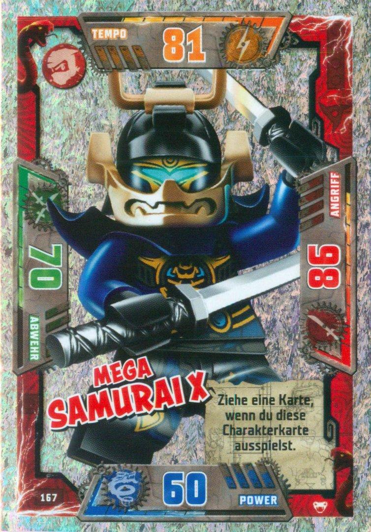 Lego Ninjago Trading Card Serie 2 Mega Samurai X 167 Steinekiste Sticker