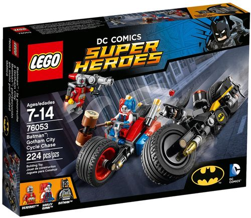LEGO® DC Comics™ Super Heroes - Batcycle-Verfolgungsjagd in Gotham City - 76053