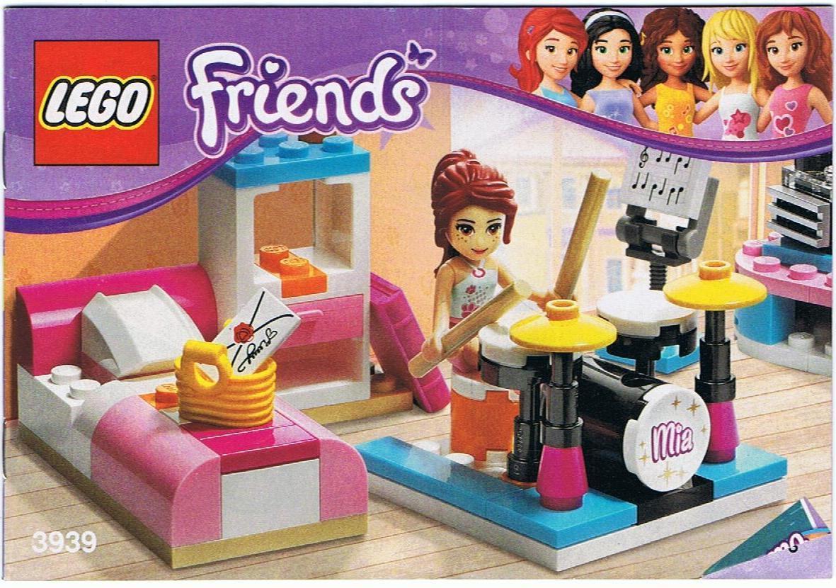lego bauanleitung friends mias musikzimmer 3939 steinekiste. Black Bedroom Furniture Sets. Home Design Ideas