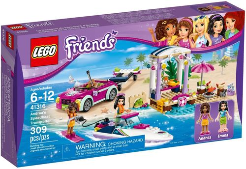 LEGO® Friends - Andreas Rennboot-Transporter - 41316