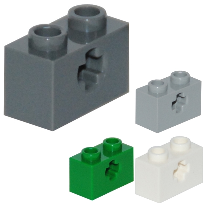 642 Lego Stein 1x2 Schwarz 8 Stück