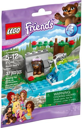 LEGO® Friends Tiere Serie 5 - Braunbär am Fluss - 41046